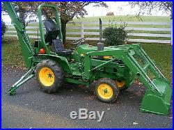 John Deere 650 Tractor with JD Front End Loader and Backhoe LOW RESERVE