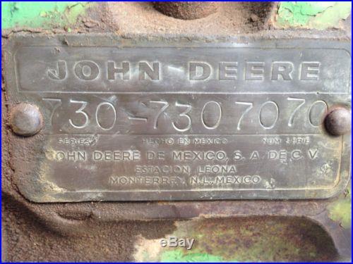 John Deere 730 Mexico Made