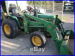 John Deere 750 4x4 Tractor Loader Backhoe