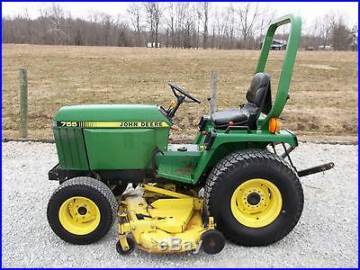 john deere 755 compact tractor 5 ft belly mower 4 4. Black Bedroom Furniture Sets. Home Design Ideas