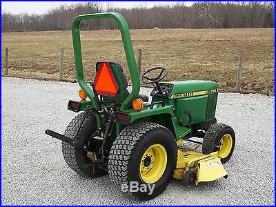 John Deere 755 Compact Tractor & 5 FT Belly Mower 4x4 Diesel