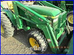 John Deere 790 4x4 Loader