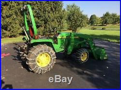 John Deere 855 MFWD (4WD) Compact Utility Tractor with 52 Front End Loader (FEL)