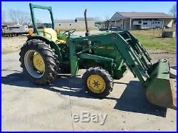 John Deere 950 4WD with power steering and loader