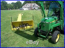 John Deere 955 Tractor 4WD Loader, Mower, Broom & Snow Blower Full Cab