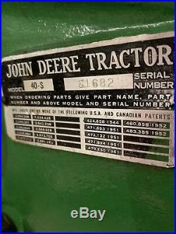 John Deere Model 40-S For Sale