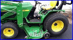 John Deere Tractor 4115, Very Low Hours, 4WD, Diesel, 60 Deck, 430 Front Loader
