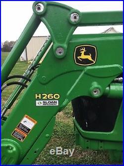 John Deere Tractor Diesel 2014 4-wheel 5100e withloader EXCELLENT CONDITION