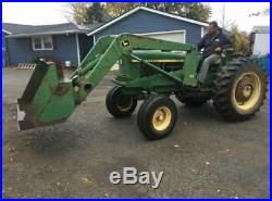 John deere 1520 utility tractor with model 48 front end loader