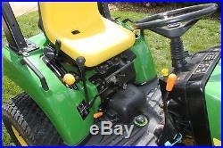 John deere 2210 tractor with loader 62 mower deck