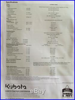 KUBOTA 2010 TRACTOR L3700SU HST 4 WHEEL DRIVE KUBOTA LOADER LA463 with 4N1