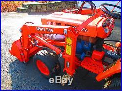Kubota B4200 Hd 4x4 Tractor Loader Diesel Front Loader Bob Cat Rubber Tire