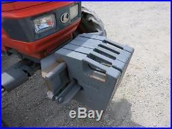 KUBOTA M4900 4x4 TRACTOR, CAB HEAT/AC, SHUTTLE SHIFT, 2434 HRS VERY NICE