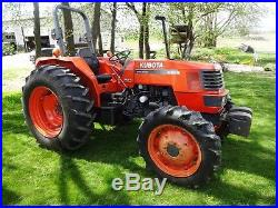 KUBOTA M6800 UTILITY SPECIAL COMPACT TRACTOR. 4X4. DUAL HYD. 1300 HRS. NICE UNIT