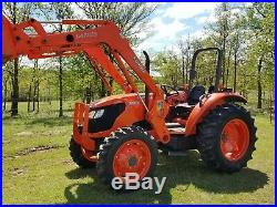 KUBOTA m5040 4x4 loader tractor with HD 10' brush hog. FREE DELIVERY