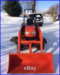Kubota 2006 BX2350D tractor, 60 mower, front loader