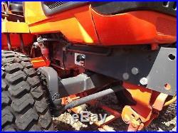 Kubota B2410 Diesel Compact Tractor 60 Belly Turf Finish Brush Mower