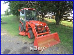 Kubota B3030 HSD Compact Tractor WithKubota LA403 Loader, Cab/AC, 1449 Hours, 4WD