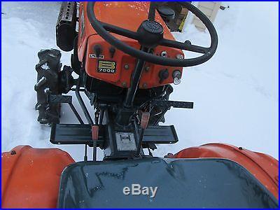 Kubota B7000 Compact Diesel Tractor 4X4 w/ Kubota S-1000 42 tiller