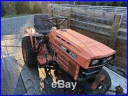 Kubota B7200 17 HP Diesel Tractor W Power Angle Snow Plow Blade