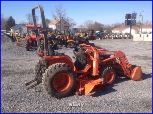 Kubota B7500 4x4 Hydro Compact Tractor W/ Loader & Mower