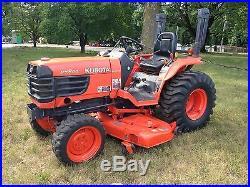 Kubota B7800 Tractor-mower, front blade, grass catcher