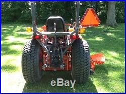Kubota B7800 tractor, loader, mower