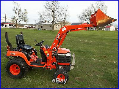 Kubota BX22 Compact Tractor & Loader- Diesel 4x4 921 Hours