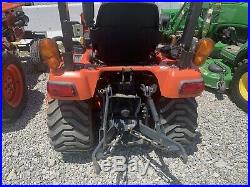 Kubota BX2350 4X4 Farm Tractor Withloader And 60 Belly Mower 210 Hrs