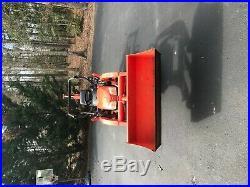 Kubota BX24 Diesel Tractor 4WD Power Steering Loader & Backhoe LOW HOURS