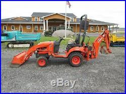 Kubota BX25D Used Tractor Loader Backhoe 4X4 PTO 3 PT Hitch Diesel