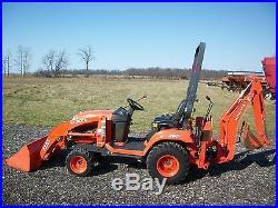 Kubota BX25D tractor/loader/backhoe, 4WD, Hydro, R4 tires, 23HP Diesel, 568 hrs