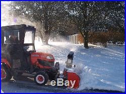 Kubota BX25, FEL, Backhoe, 54 Mower, BX2750 Snowblower, Cab, & Grass Catcher