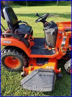 Kubota BX2660 Diesel 4X4 Hydro Lawn Tractor Mower Loader