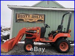 Kubota Bx1500d Hst 4x4 Compact Tractor /loader Belly Mower Cheap Shipping