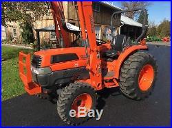 Kubota Grand L4330 Diesel Tractor, 411HRS, 43HP, 4x4, Hydro, Kub LA853 Loader