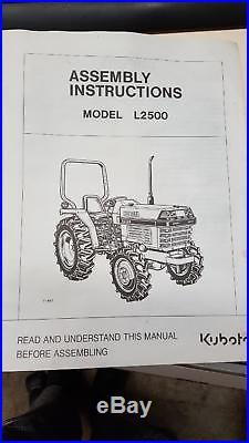Kubota L2500 Tractor, Diesel, 2WD, 996 hours, 27 HP, 1998-2000 STANDARD L SERIES