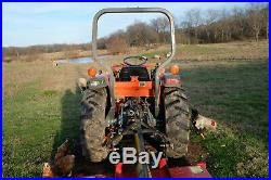 Kubota L2900 GST Tractor 4WD With Implements Box Blade Bushhog Post Auger
