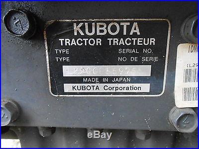 Kubota L2900 Tractor turf tires