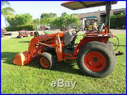 Kubota L3010 GST Diesel Tractor Loader 4 x 4 1586 hrs Rear Hydraulics Turf Tires