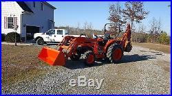 Kubota L3130 4x4 tractor loader backhoe. Free delivery