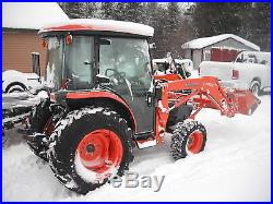 Kubota L3240 4x4 Cab Loader Compact Tractor 450 Hours