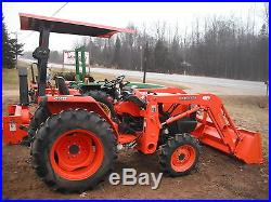 Kubota L3400 Loader 4x4 Compact Tractor 89 Hours