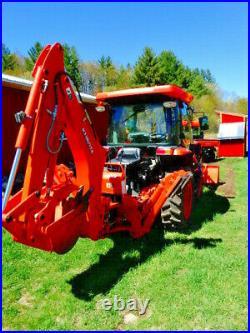 Kubota L3560 4x4 Tractor, Backhoe, Loader, Front Show Blower, Forks, Mower, Rake