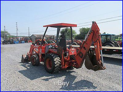 Kubota L35 4x4 Compact Tractor Loader Backhoe! No Reserve