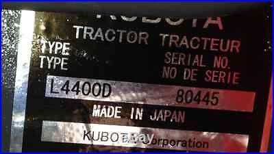 Kubota L4400 HST 4x4 Loader / Grapple / Forks / Boxblade / Bushhog