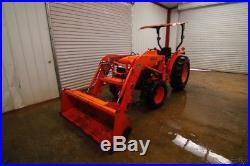 Kubota L4400 Tractor Loader, Open Rops, La703 Loader, 4x4, Canpoy, 43hp