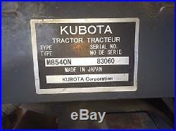 Kubota M8540 4x4 new holland john deere case