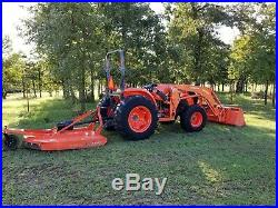 Kubota MX5200 4x4 loader tractor, with brush hog. FREE DELIVERY