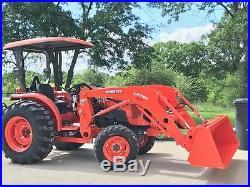 Kubota Tractor 2017 L4071, Rake, Pallet Fork, & Grappler NEW